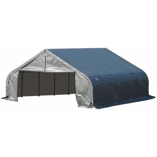 ShelterLogic 18'x24'x11' Peak Style Shelter in Gray [Grey, 24 x 18]