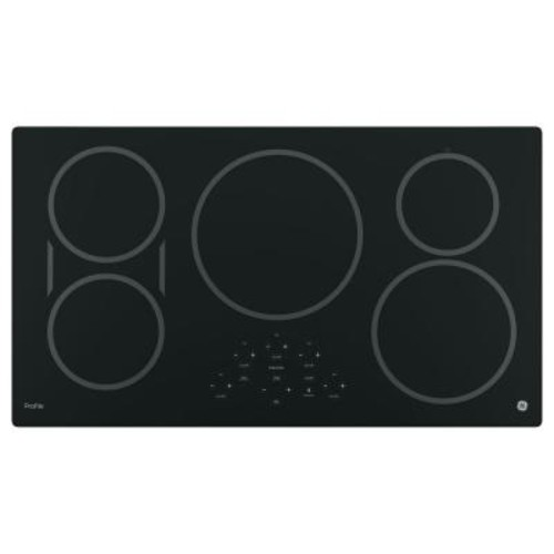 GE Profile 36 in. Electric Induction Cooktop in Black with 5 Elements