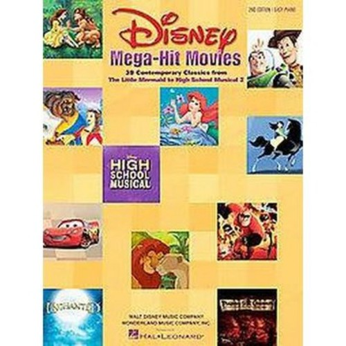 Disney Mega-Hit Movies : 37 Contemporary Classics : Easy Piano (Paperback)