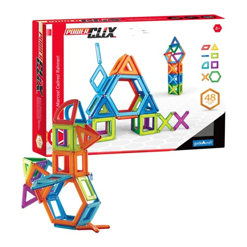 Guidecraft PowerClix Frames - 48 Piece Set