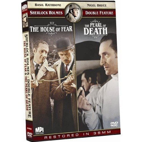 Sherlock Holmes Double Feature: The House of Fear/The Pearl of Death: Basil Rathbone, Nigel Bruce, n/a: Movies & TV