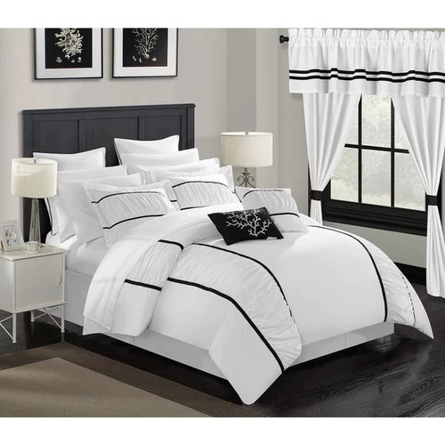 Chic Home 24-Piece Auburn King Bed In a Bag Comforter Set