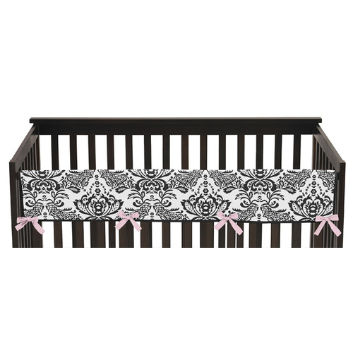 Sweet Jojo Designs Long Crib Rail Guard Cover for the Sophia Collection by