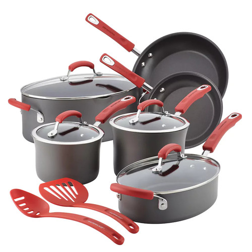 Rachael Ray 12-pc. Hard-Anodized Nonstick Cookware Set