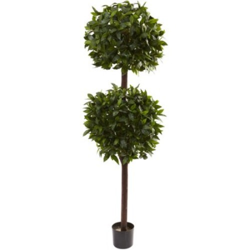 Nearly Natural 6' Sweet Bay Double Ball Topiary