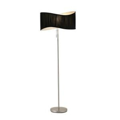 Adesso Symphony 63 in. Satin Steel Floor Lamp