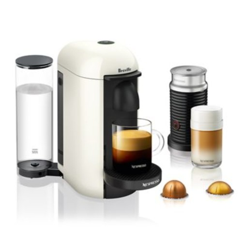 Nespresso by Breville VertuoPlus Coffee and Espresso Maker Bundle with Aeroccino