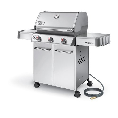 Weber Genesis 6650001 S-310 Stainless-Steel 637-Square-Inch 38,000-BTU Natural-Gas Grill [Natural Gas]