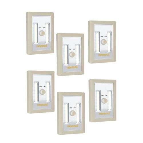 Set of 6 Portable LED Lights with Dimmer Switch