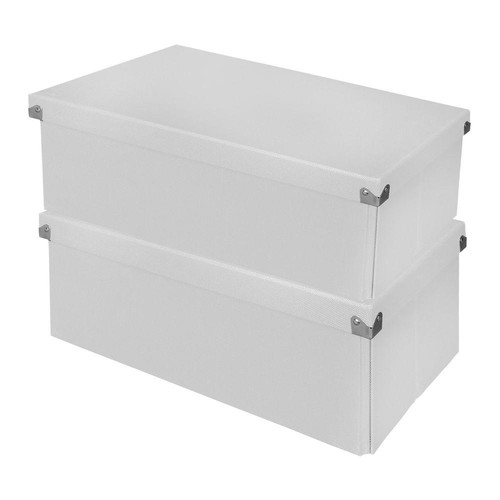 Samsill Essential Box with Lid White (2-Pack)
