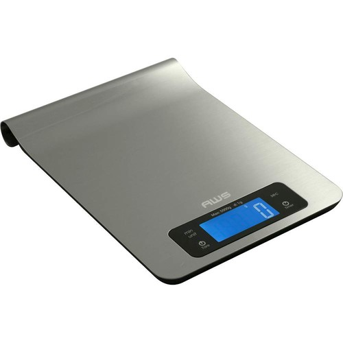 American Weigh Scales - Epsilon Digital Kitchen Scale - Stainless Steel