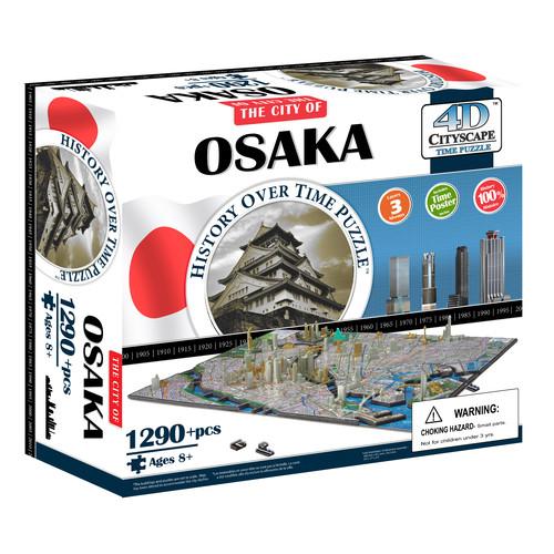 4D Cityscape Time Puzzle - Osaka Japan