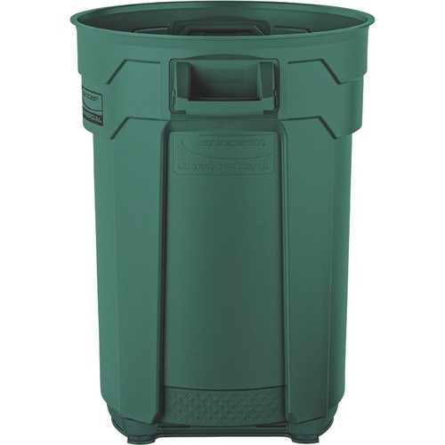 Suncast 44-Gallon Utility Trash Can  Green, Model# BMTCU44