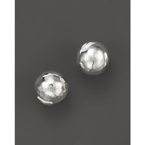 IPPOLITA Glamazon Sterling Silver Hammered Ball Stud Earrings