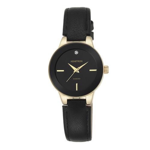 Armitron Ladies Black Strap Watch
