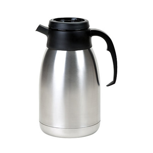 Service Ideas 2-Liter SteelVac Coffee Server, Stainless Steel