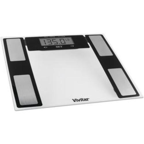 Vivitar PS-V527-C Total Fitness Digital Bathroom Scale, Clear