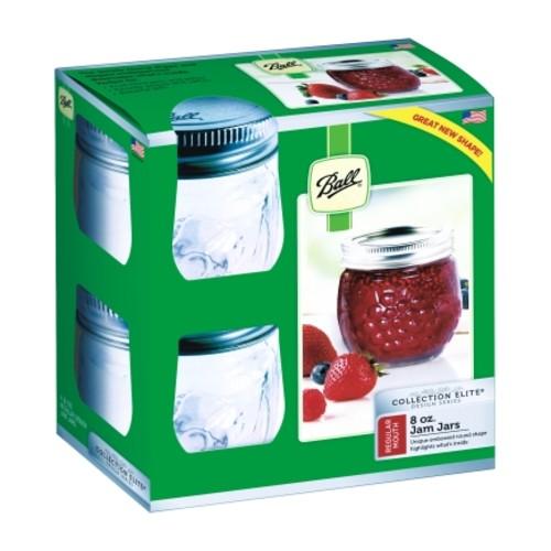 Ball Collection Elite Regular Mouth Canning Jar 8 oz. 4 pk(1440081210)