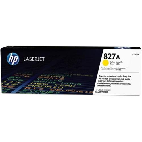 HP 827A Color LaserJet Enterprise Flow M880/M855 MFP Yellow Toner Cartridge CF302A