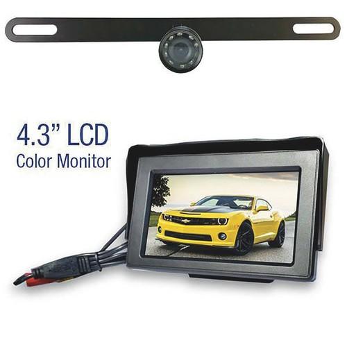Top Dawg Wireless License Plate Backup Camera  1 Camera, 4.3in. Color TFT-LCD Monitor, Model# MS435LPWA