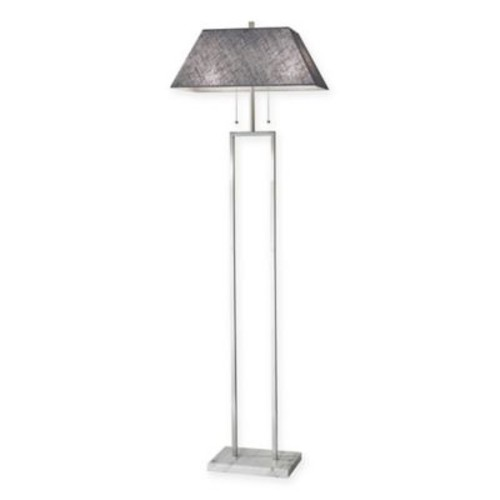 Adesso Chambers Marble and Brushed Steel 1-Light Floor Lamp