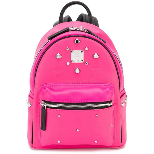 MCM Studded Small-Sized Backpack