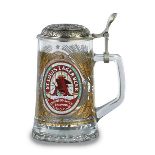 Versil Anheuser-Busch Glass Stein
