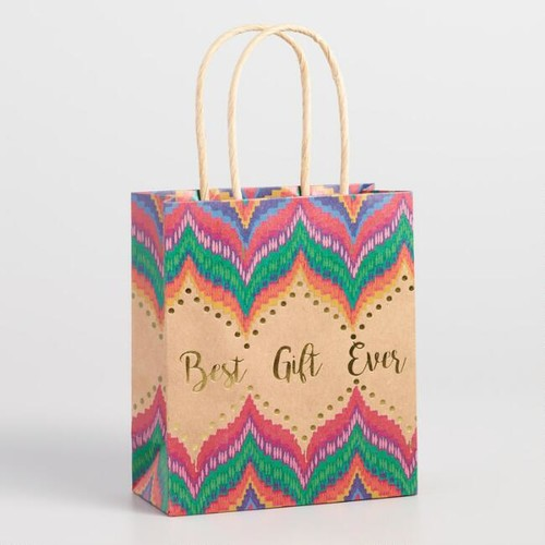 Small Boho Best Gift Ever Kraft Gift Bag Set of 2