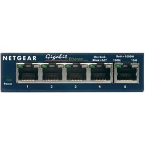 NETGEAR, Switch 5-Port 10/100/1000MBPS (Catalog Category: Networking / Switches- 4 to 7 Ports)