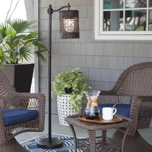 Kenroy Home 32144 Brent 1 Light Outdoor Floor Lamp