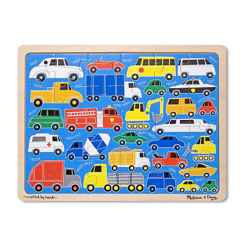 Melissa & Doug Beep Beep Wooden Jigsaw Puzzle - 24-Pieces
