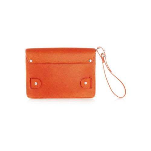 The PS11 textured-leather wristlet clutch