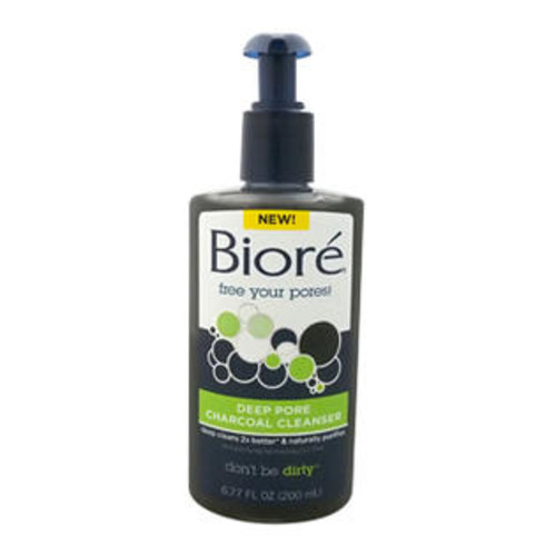 Biore Deep Pore Charcoal Cleanser 6.77 oz Cleanser for Unisex