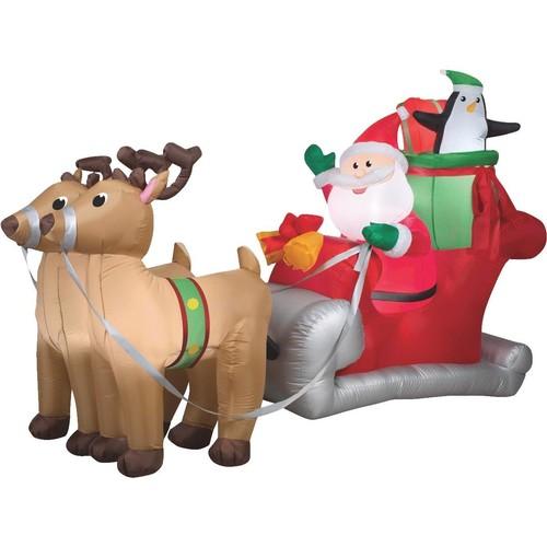 Gemmy Airblown Inflatable Santa Sleigh - 36855