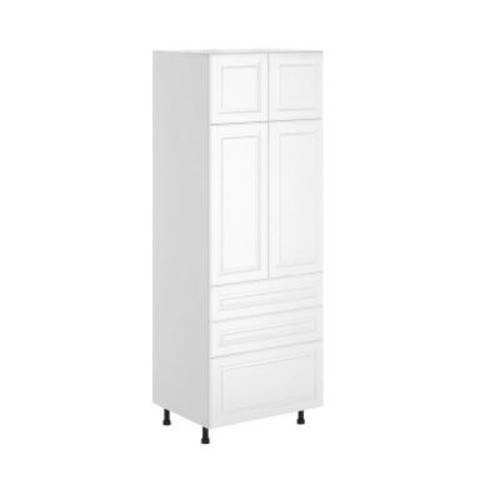 Fabritec Birmingham Ready to Assemble 30 x 83.5 x 24.5 in. Pantry/Utility Cabinet in White Melamine and Door in White