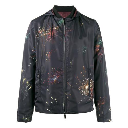 reversible fireworks print jacket