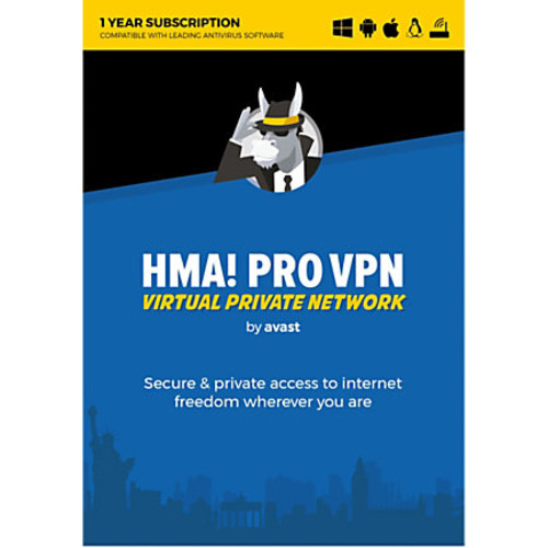 Avast HMA PRO VPN 2018 Unlimited, For PC/Mac, Product Key Card