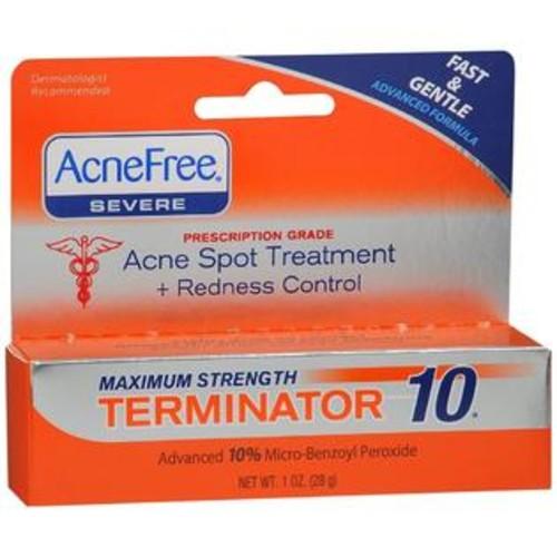 AcneFree Severe Terminator 10 Acne Spot Treatment + Redness Control, 1 OZ