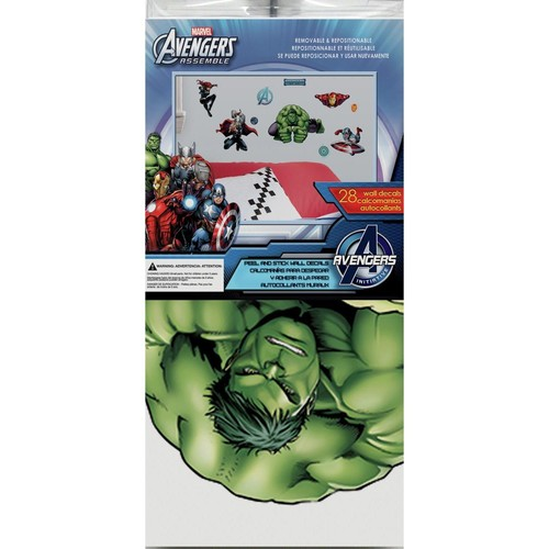 RoomMates RMK2242SCS Avenger Assemble Peel and Stick Wall Decals, 28 Count