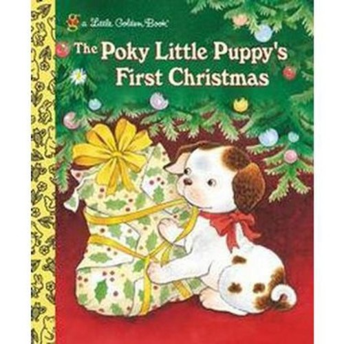 The Poky Little Puppy's First Christmas ( Little Golden Books) (Hardcover)