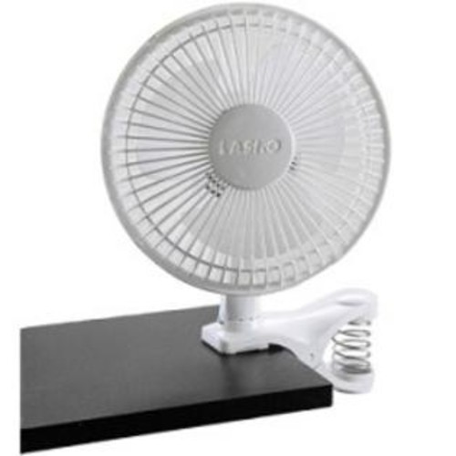 Lasko Products 6inch 2Speed White Clip Fan