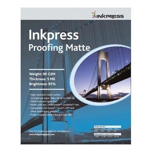 Epson Inkjet Paper, Matte, 8-1/2 x 11, 100 Sheets/Pack