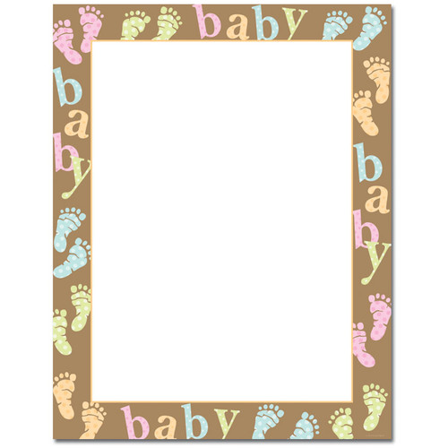 Image Shop ALH102 Baby Dots and Feet Letterhead