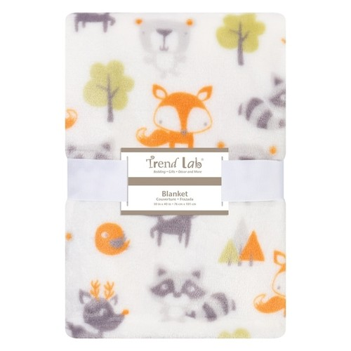 Trend Lab Forest Pals Plush Baby Blanket