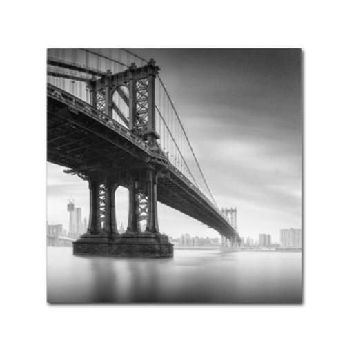 Trademark Global Moises Levy 'Manhattan Bridge I' Canvas Art [Overall Dimensions : 24x24]
