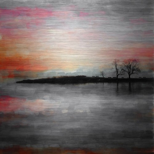 Parvez Taj 'Painted Sunset' Aluminum Print Art