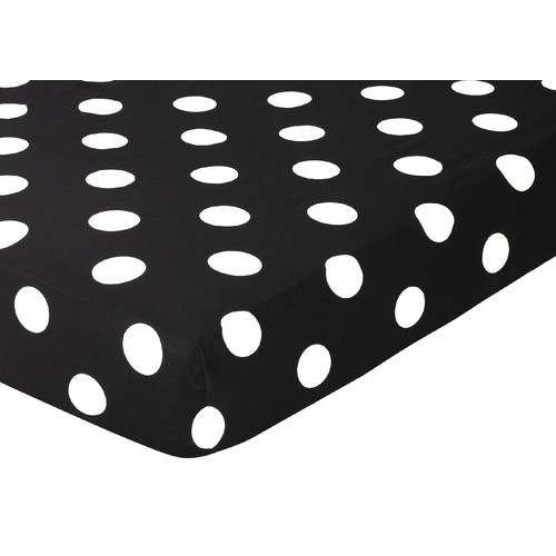 Sweet Jojo Designs Hot Dot Collection Fitted Crib Sheet - Polka Dot Print