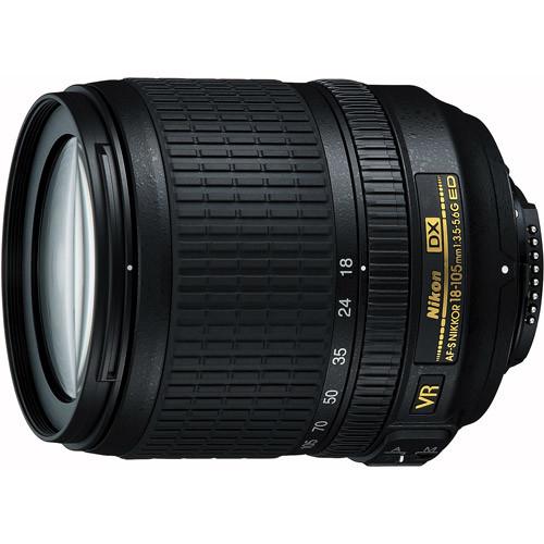 Nikon AF-S DX NIKKOR 18-105mm f/3.5-5.6G ED Vibration Reduction Zoom Lens with Auto Focus for Nikon DSLR Cameras