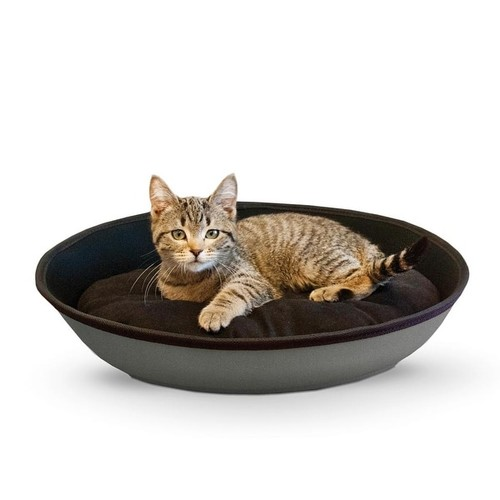 K&H Pet Products Mod Sleeper Cat Bed Small Gray / Black 18.5