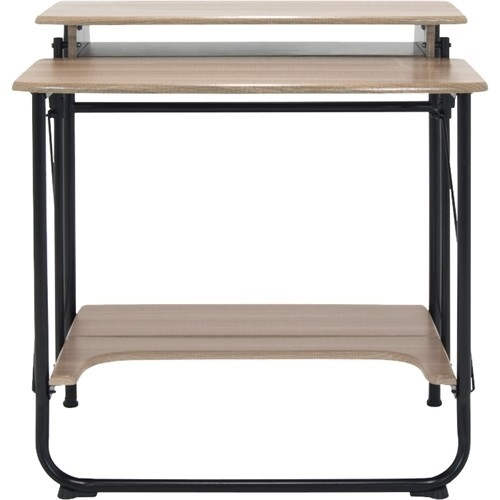 Calico Designs - Stow Away Computer Desk - Black/Driftwood